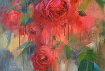 Inspiration - Natur - Blomster / Inspiration til malerier.