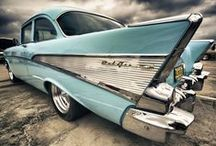55  -  57  CHEVYS / GOTTA LOVE THE CLASSIC STYLE AND STRENGTH OF THE TRI FIVE CHEVYS