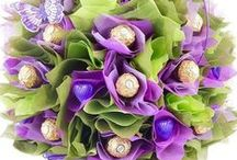 Love of All That is Purple! / We absolutely love purple; hence why we created the Purple Lavender Chocolate Bouquet. See what else gets our purple senses going! Visit www.thechocolateflorist.co.uk to find out more about our Chocolate Bouquets.