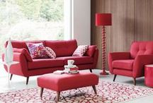 Hot Red / Catching the eye like no other colour, red is both bold and daring.   Visit: www.dfs.co.uk/styleguide for more inspiration