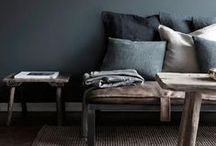 Moody hues interiors / Embrace the trend for intense colours and rich textures - they're a perfect choice for adding warmth, atmosphere and a touch of elegance to your living space