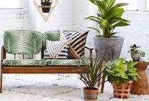 Tropical Paradise / Feeling exotic? Botanicals and tropicals are the latest themes inspiring our home interior design! Be inspired by tropical home accents and create your own hideaway home decor.