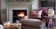 It's cold outside..Cosy up! / As the nights draw in it is time to cosy up! Layer fabrics and texture to create a warm and inviting look - plus they are great to snuggle underneath in front of the fire!