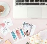 Pretty Work Spaces + Home Office Decor