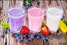 Smart Smoothies and Shakes / healthy smoothies and shakes. #food #protein #smoothies #wellness #shakes #healthy #fitness / by #CartonSmart