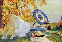 Art ~ Edward Cucuel / (August 6, 1875,San Francisco - April 18, 1954, Pasadena, California)