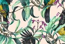 inspiration: prints, nature allover / coloured alloverprints vintage style