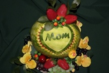 For mother / There is many ways to tell your mother you love her. Now you can Say It With Fruit.  Fruit carving makes wonderful gift and is healthy.