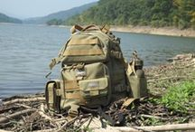 Bug Out Bags / Bug-out bags are portable kits that contains the items needed to survive for seventy-two hours when evacuating from a disaster. The focus is on evacuation, rather than long-term survival, distinguishing the bug-out bag from a survival kit, a boating or aviation emergency kit, or a fixed-site disaster supplies kit.