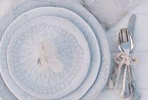 White & grey wedding theme