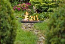 Ogród i taras. Biokominki - kominki ogrodowe. / Kominki dekoracyjne - biokominki - to świetny pomysł na aranżacje ogrodu i tarasu.