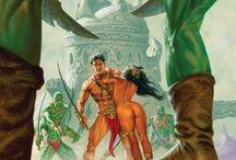 Art: Barsoom Nights / Warlord of Mars, Princess of Mars, John Carter