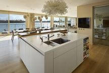 Case Study - bulthaup kitchen with a view / A bulthaup b3 kitchen at a luxury lakeside property in the Cotswolds with Sub-Zero Wolf appliances.
