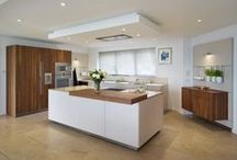 Case Study - bulthaup b3 in walnut and greige / With contrasting solid walnut cabinets and greige laminate fronts this bulthaup b3 kitchen exudes natural warmth.