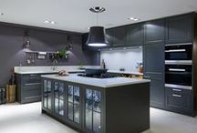 Classic Transitional Style Lava Black Kitchen / A classic 'Transitional' Schüller kitchen by hobsons|choice in Lava Black. The German brand offers great value and style with a wealth of options, colours and styles.  This kitchen, and many others, can be viewed at our Swindon showroom.