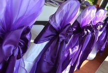 Purple Bows - Chair Covers / a selection of the purple weddings we have dressed here at The Sophisticated Touch.