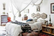 """HOME - BOHEMIAN ROOMS / Boho, boheme, bohemian, creative, eclectic, boho modern, hippy, vintage full room shots - for bohemian decorating details please check up on my other board - """"boho decor details"""""""