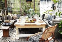 HOME - BOHEMIAN + NATURE / Outdoor spaces and gardens with bohemian/boho, gypsy, hippie, eclectic vibes