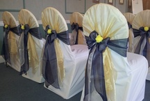 Gold Bows - Chair Covers