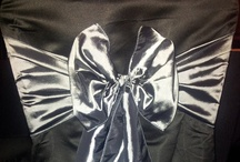 Silver Bows - Chair Covers