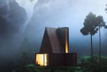 TREE HOUSES & HIDEOUTS / houses in trees....and tree houses.
