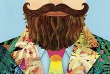 Beard Illustration / #beardgrooming #beardcare #beardstyles #beardproducts #facialhair #zeusmen #beards