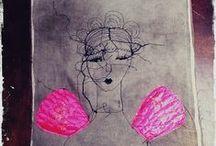 embroidery - people, dolls / Sticken - Menschen, Puppen / by Faden.Design. Christine Ober