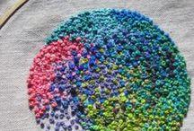 embroidery - circles, dots / Sticken - Kreise, Flecken / by Faden.Design. Christine Ober