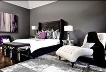 black and grey interior / The elegance of Black and grey.  Black and Grey Interior décor ideas.