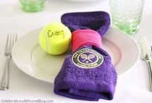 Wimbledon / Host a special day over tennis (playing or on the TV)