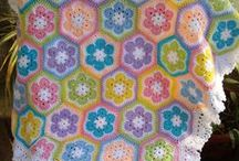 Crochet blankets and granny squares