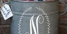Monograms / In the South...it's all about the MONOGRAM