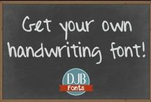 Create Your Own Handwriting / Let Darcy Baldwin {fontography} help you digitize your handwriting for use in scrapbooking, business, marketing, media  and other endeavors. It's as easy as writing your alphabet, scanning and getting back a fabulous font of your very own!  .................because your story matters.