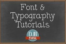 Font & Typography Tutorials / ypography, graphics, font tutorials, info, samples, and more - curated for you by Darcy Baldwin Fontography @ darcybaldwin.com