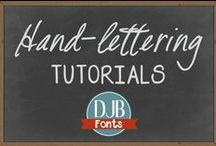Hand Lettering Tutorials / Want better handwriting? Want to learn to create fancy fake-calligraphy for wedding invitations? Here's the board! lettering, creative lettering, fonts, drawing, handwriting, calligraphy, chalk, chalkboard