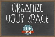 Organize Your Office / Craft Space / Whether you scrap digitally or on paper, bead, do needlework, etc., your craft space needs to be organized. Check here for awesome ideas!