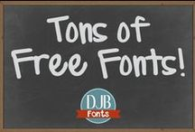 FREE FONTS / Fonts, Free Fonts, Commercial Fonts, Font Collections, Best fonts, Top 10 fonts, Typography. If you are a font creator or love sharing fonts, message me an I'll add you to the board! Only rule is they must be free! Please be sure to check with the foundry for commercial use licensing questions.
