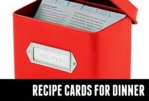 Recipe Cards for Dinner / My healthy recipes on recipe cards