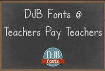 Fonts for Teachers / Fonts from Darcy Baldwin {Fontography} found on #TpT Teacher fonts, free teacher fonts, commercial use fonts for teachers, kindergarten fonts, cover fonts, worksheet fonts, teacher product fonts. Get them here:  http://www.teacherspayteachers.com/Store/Darcy-Baldwin-Fonts