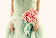Soft - Blue / Mint and pink / A chiffon filled look into this ultra girly wedding pallet!