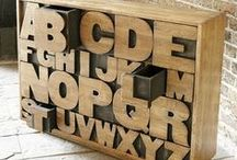 Decorating with Typography / typography, fonts, decorating, home decor, wall decor