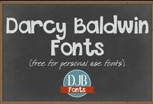 DJB Fonts -- Free Fonts! / Free fonts, free teacher fonts, free scrapbooking fonts, free digital scrapbooking fonts, free kid fonts, get your own handwriting font for free