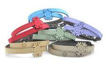 Bracciali Snowflake Collection / Colora il tuo inverno e il tuo Natale con i nuovi bracciali Snowflake Krilà!  Bracciali in tessuto metallizzato con chiusura in argento. Scegli il tuo colore preferito!
