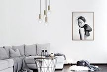 LIVING / neutral tones and fresh whites anchored by black