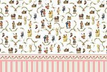Miniatur Wallpaper dollhouse / Tapety do domčeka