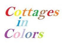 Cottages in Colors / Cottages with white background and a tone of a different color at a time. The color can be repeated.