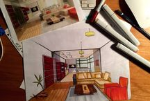 My Work. (Interior Design Student) / Some of my work as a Interior Design Student. From start to finish. Learning every day.