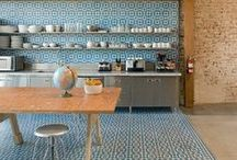 Decorating with tile / I love using tile to create impact and especially in a small home this can work really well. You can be as bold as you like, mixing colours, styles and patterns to make a really individual decor. Bathrooms and kitchens, walls and floors!