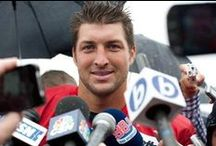 Tebow Time!! / Philippians 4:13-I can do all this through him who gives me strength.  / by Marisa Helms