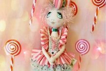 ~Soft Dolls & Animals~1~ /  Cloth dolls, soft scuptures and stuffed animals, a few toys and vintage things, all made by hand, one at a time. Needle felted art is in a separate board. All of these pins have been shared with me...thanks and pin all you like :)